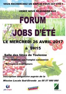 affiche Jobs d'été 26 avril 2017